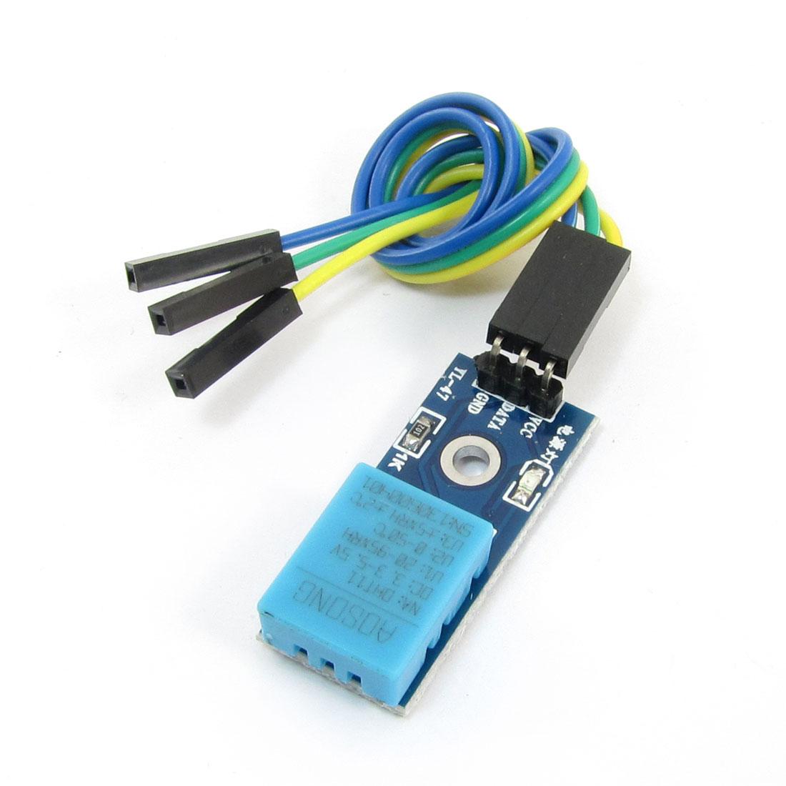 DC 3.3-5V 3 Wire Cable DHT11 Temperature Humidity Sensor Module Probe