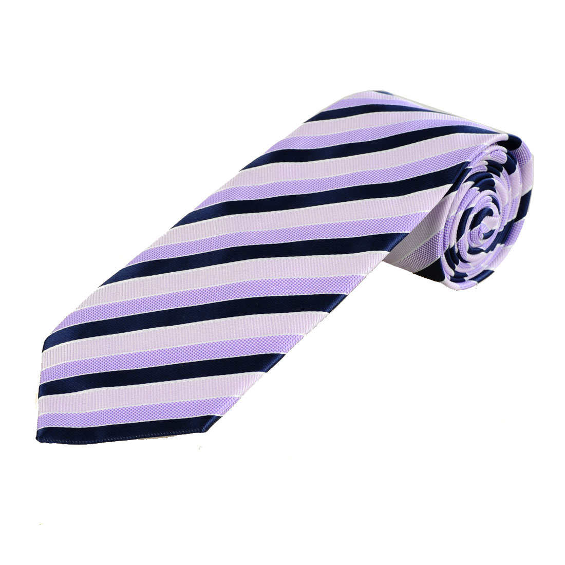 Black Light Pink Inclined Stripes Print Textured Tie Necktie for Men