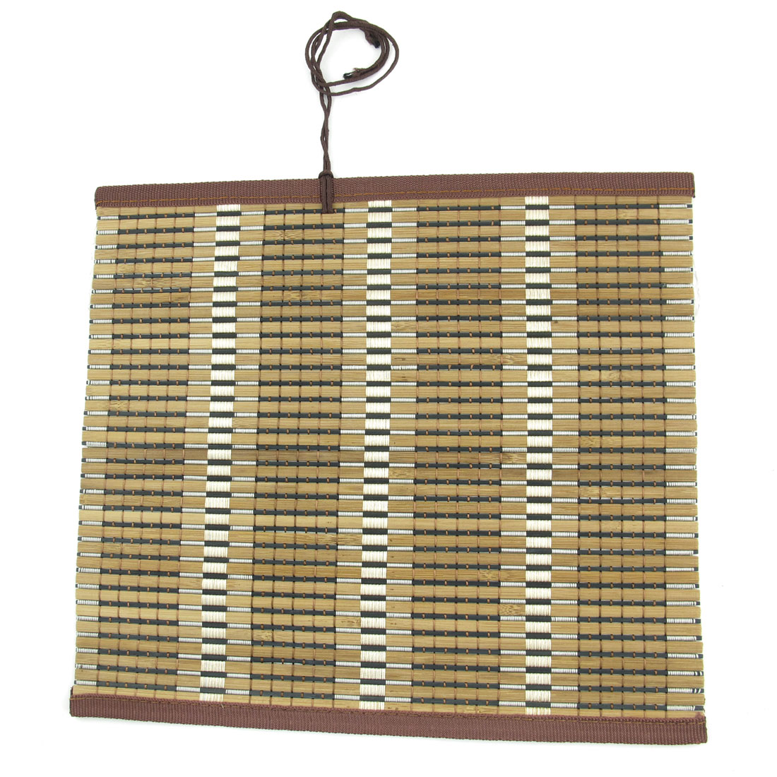 Brown Black Drawing Painting Studio Bamboo Brush Roll Up Mat Holder