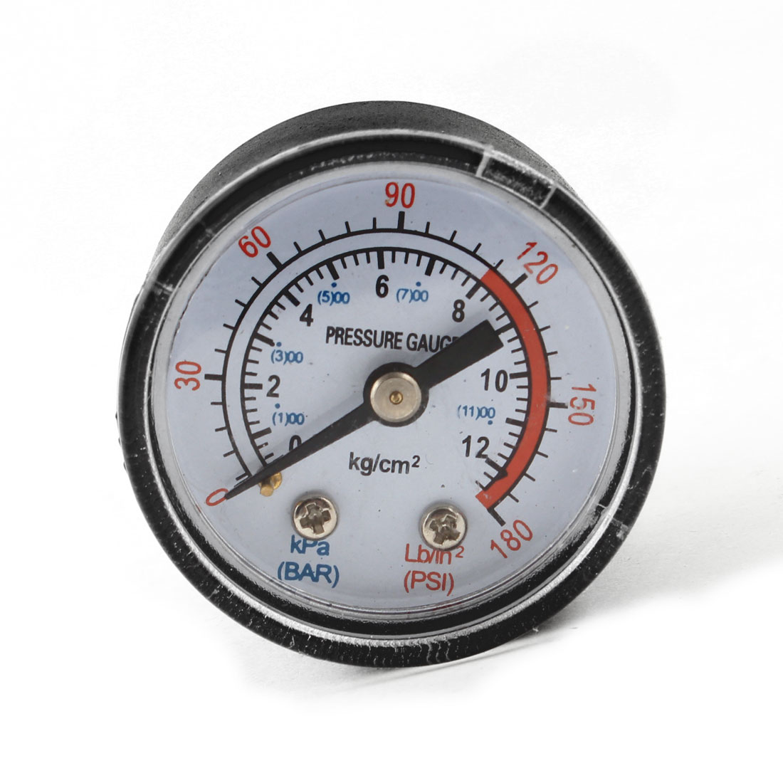 "0-12 kg/cm2 0-180Lb/in2 (1)00-(11)00kPa 1/8"" PT Male Threaded Air Pressure Gauge"