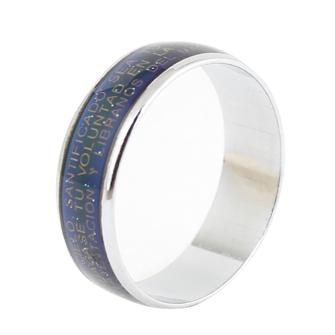 US 7 1/2 Color Change Letters Printed Finger Ring for Woman