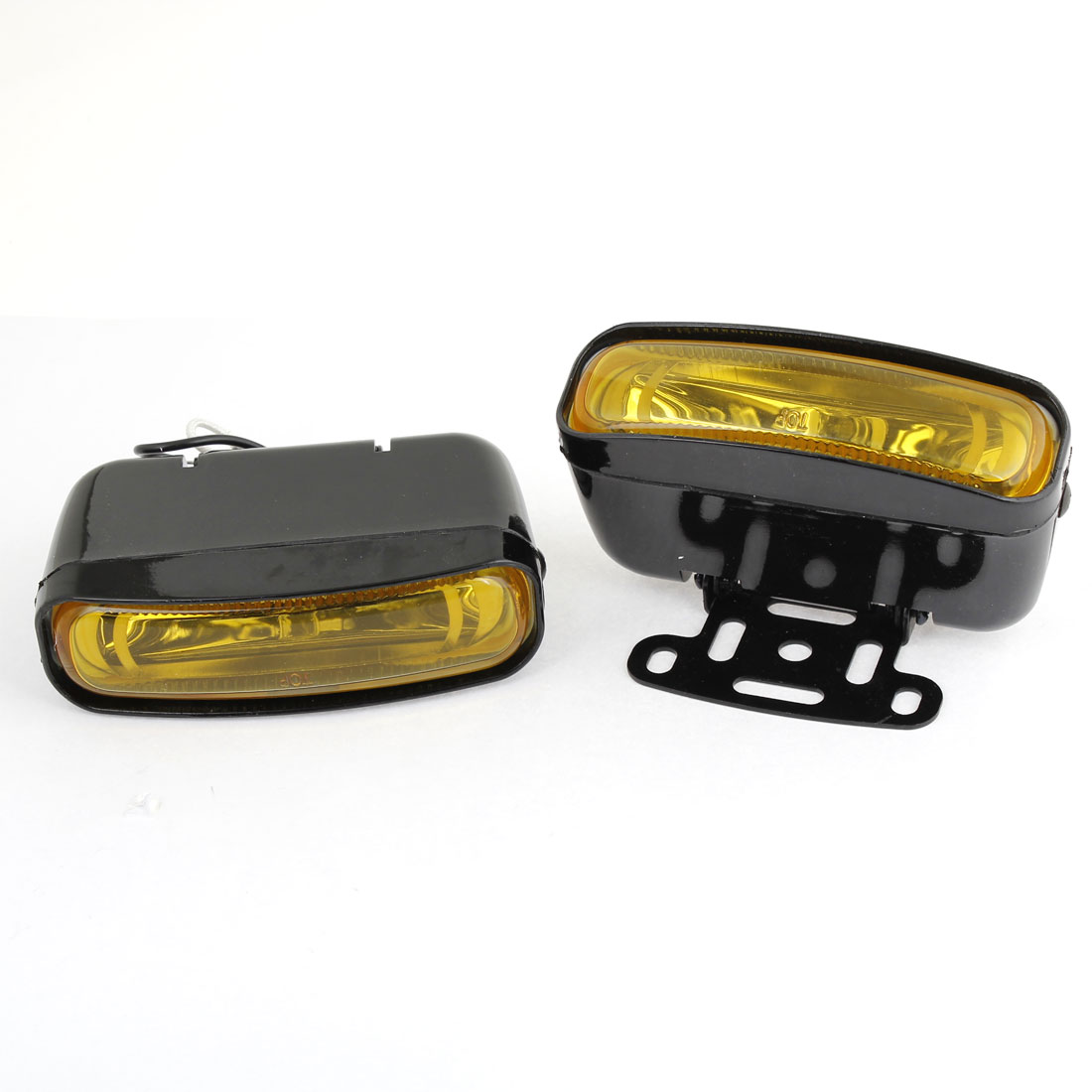 2 Pcs H3 Yellow Driving Fog Light Foglamp Head Lamp for Auto Car