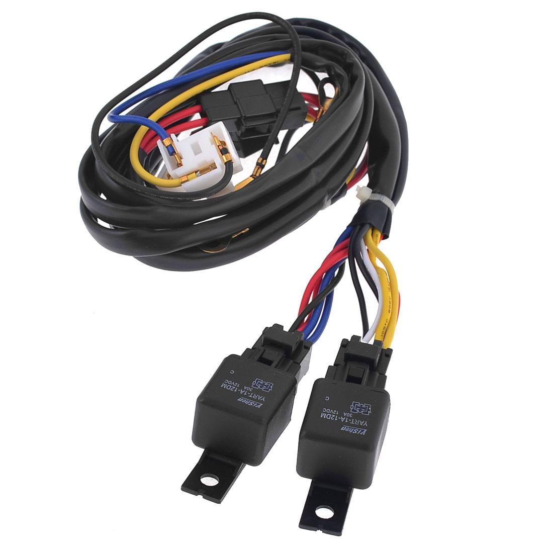 H4 Halogen Fog Lamp Light 100/90W Wiring Controller Kit