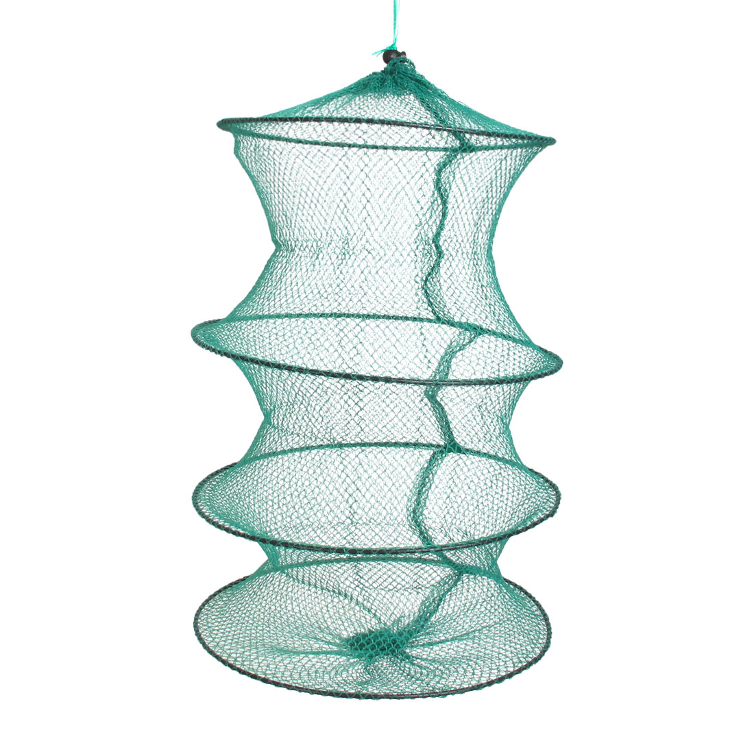 Nylon Green Folding 3 Sections Mesh Design Fishing Cage Fish Net
