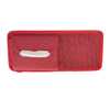 Red Nylon Letter Pattern Paper Tissue Box Card 7 CD Holder Pouch for Car