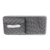 Car Gray Letter Print Nylon Tissue Box 7 Disks DVD CD Visor Card Holder