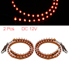 2 Pcs Car Red 48-LED Decorative Flexible Strip Light Lamp 48cm Long DC 12V