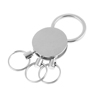 Key Holder Blank Metal Pendant Keyring Keychain w 3 Mini Split Rings