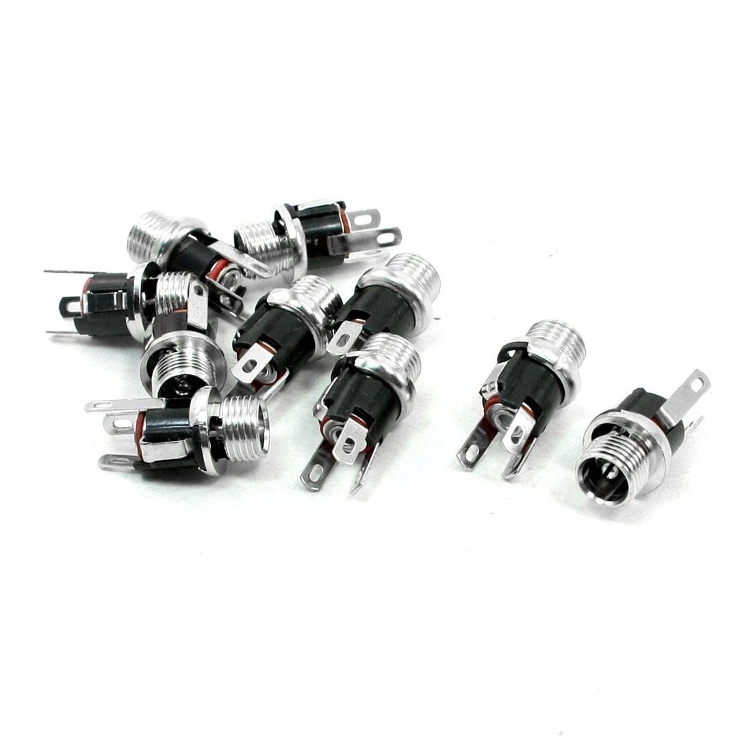 10 PCS 2.1x5.5mm 3 Poles DC Power Jacks Connectors Socket