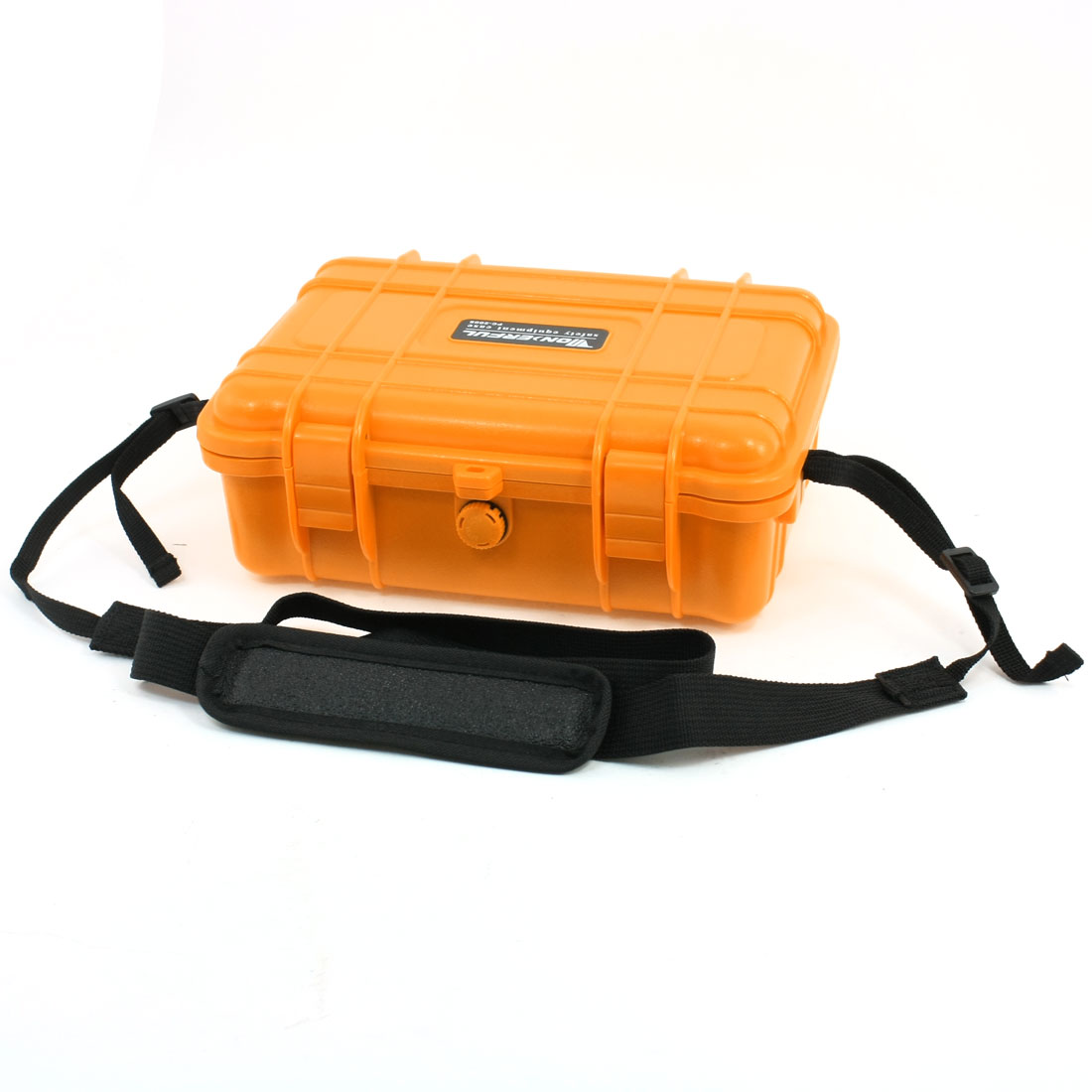 Photographic Foam Lining Safety Box Case Orange w Shoulder Strap