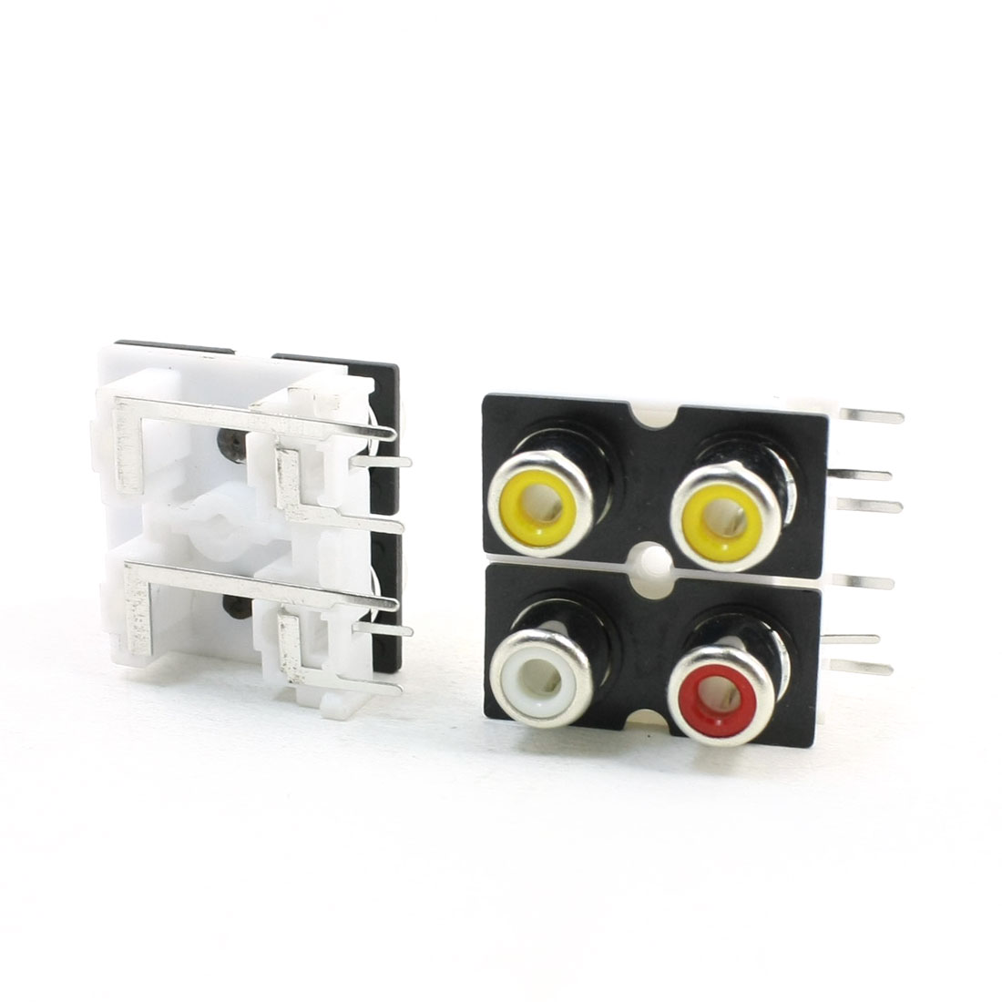 2Pcs RCA-410 PCB Mounted A/V Concentric Outlet 4RCA Female Jack Socket