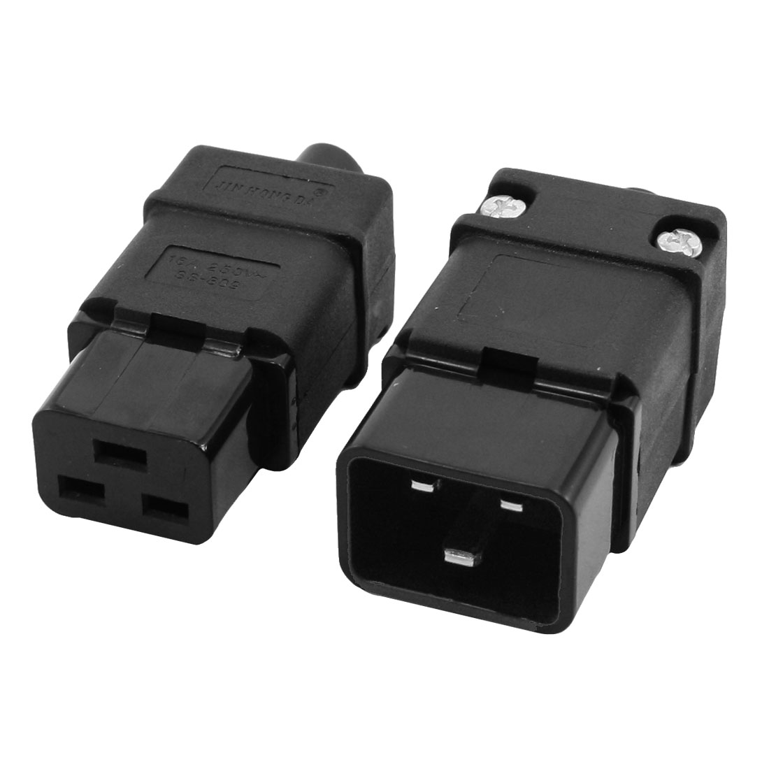 2 in 1 16A 250VAC IEC320 Series C19 Plug C20 Socket for Power Cord