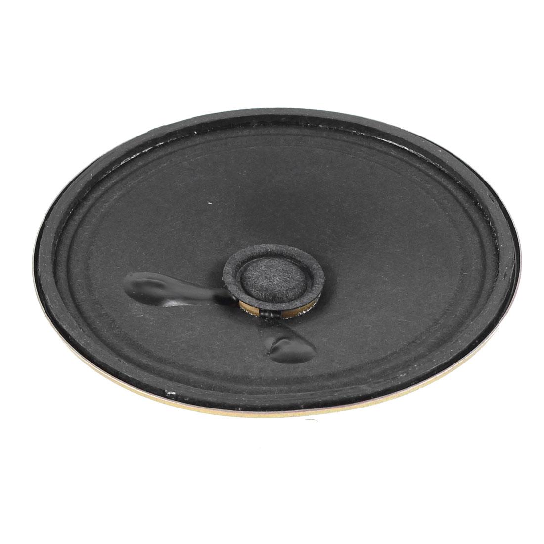 8 Ohm 2W 77mm OD Metal Shell Toys Interphone Internal Magnet Speaker