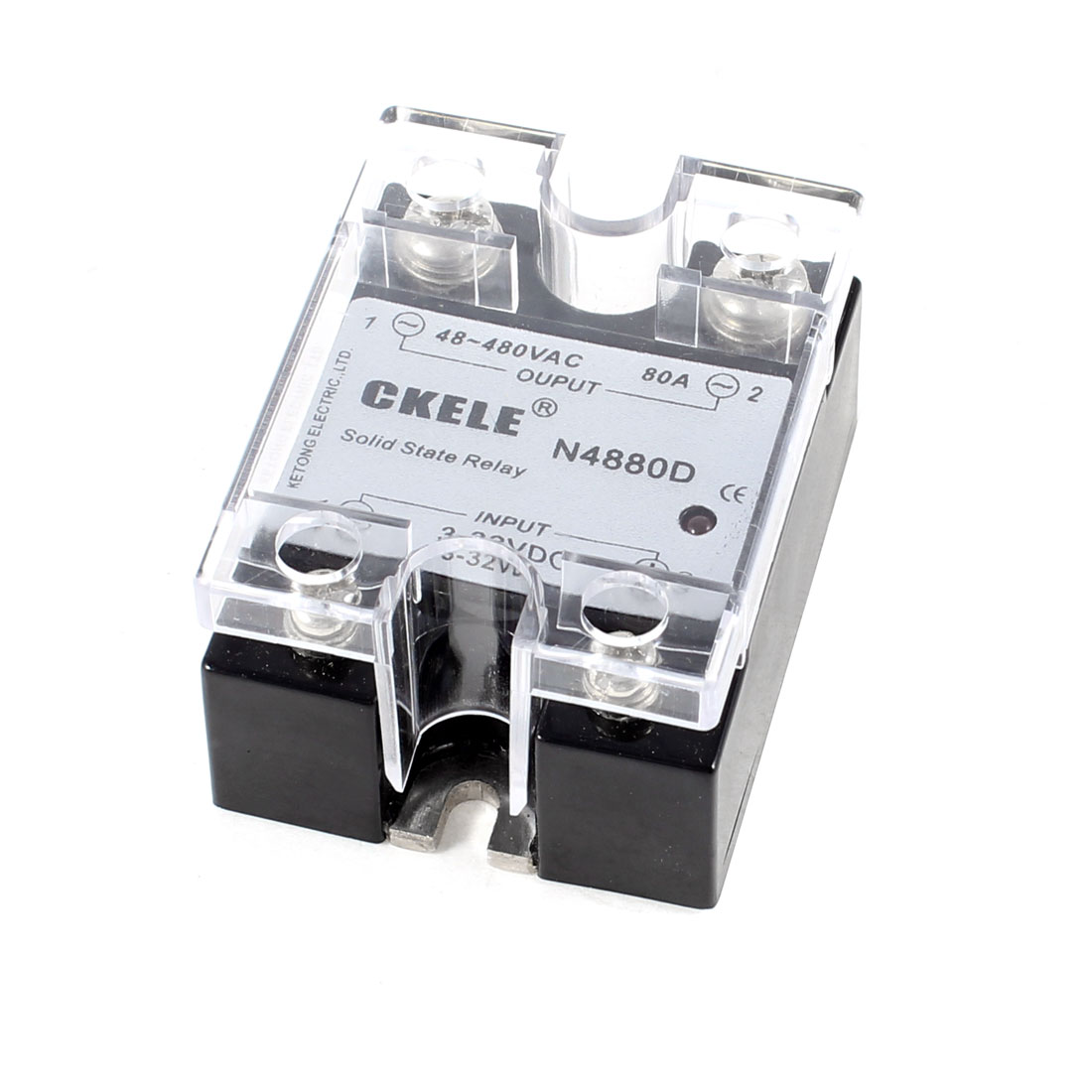 DC to AC SSR Solid State Relay 80A DC 3-32V / AC 48-480V