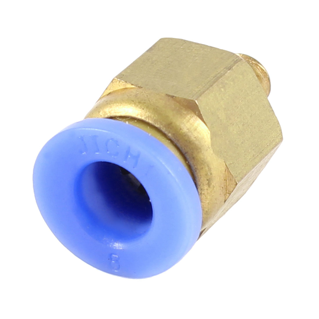 5mm Thread to 8mm Hole Tube Air Pneumatic Push in Quick Connector Joint
