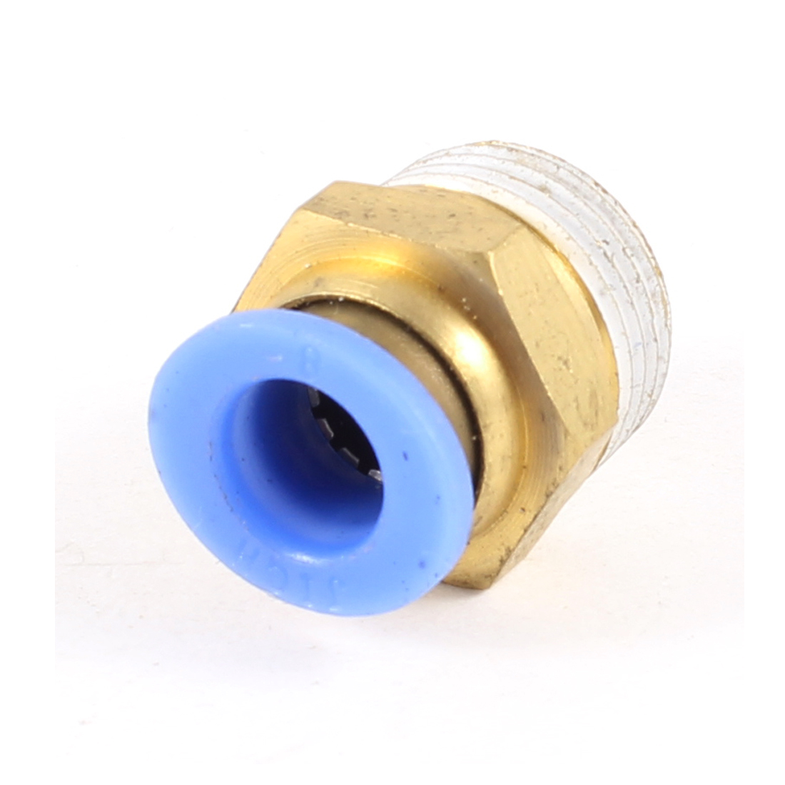 17mm Thread to 8mm Hole Tube Air Pneumatic Push in Quick Connector Joint