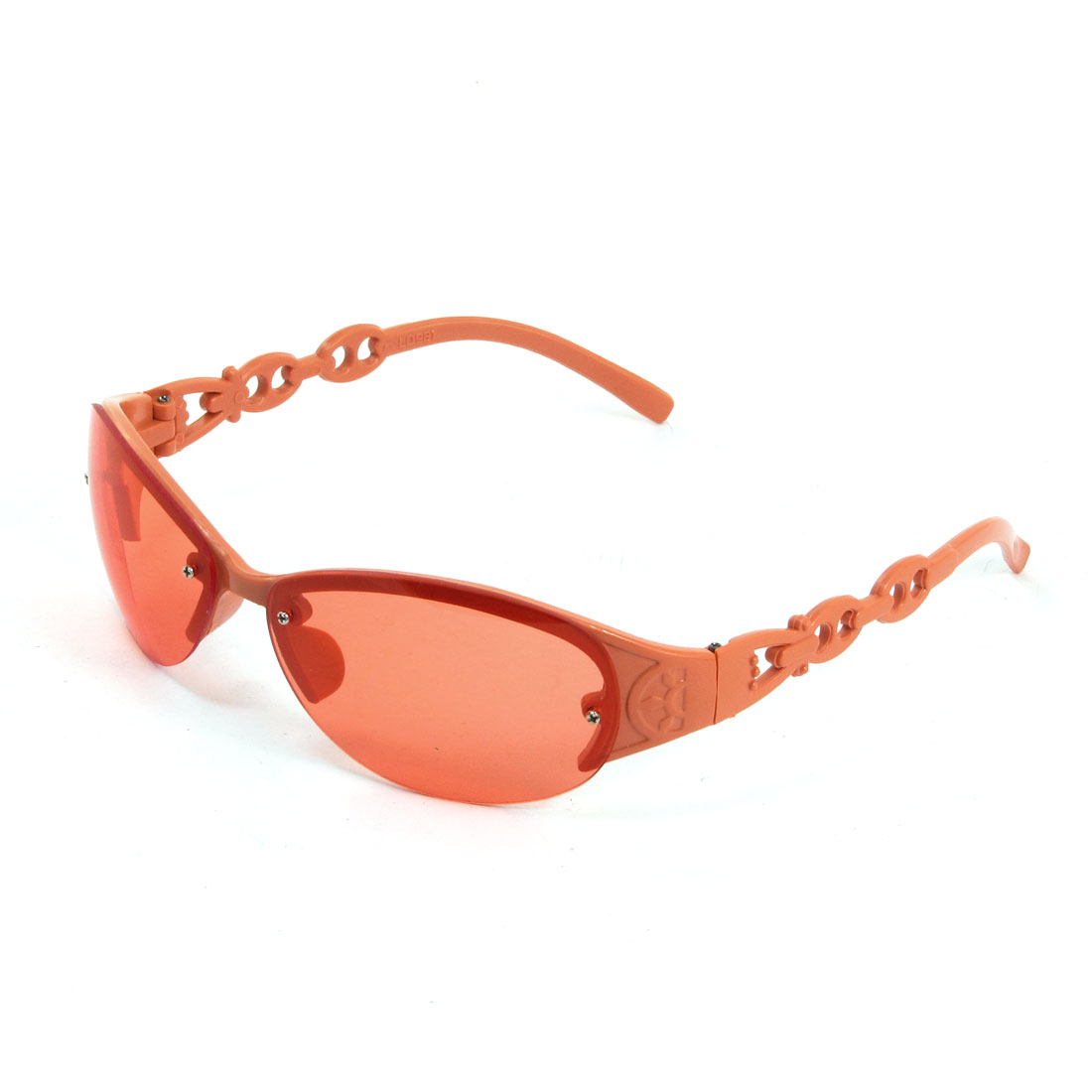 Orange Plastic Full Frame Outdoor Sunglasses Eyewear for Woman
