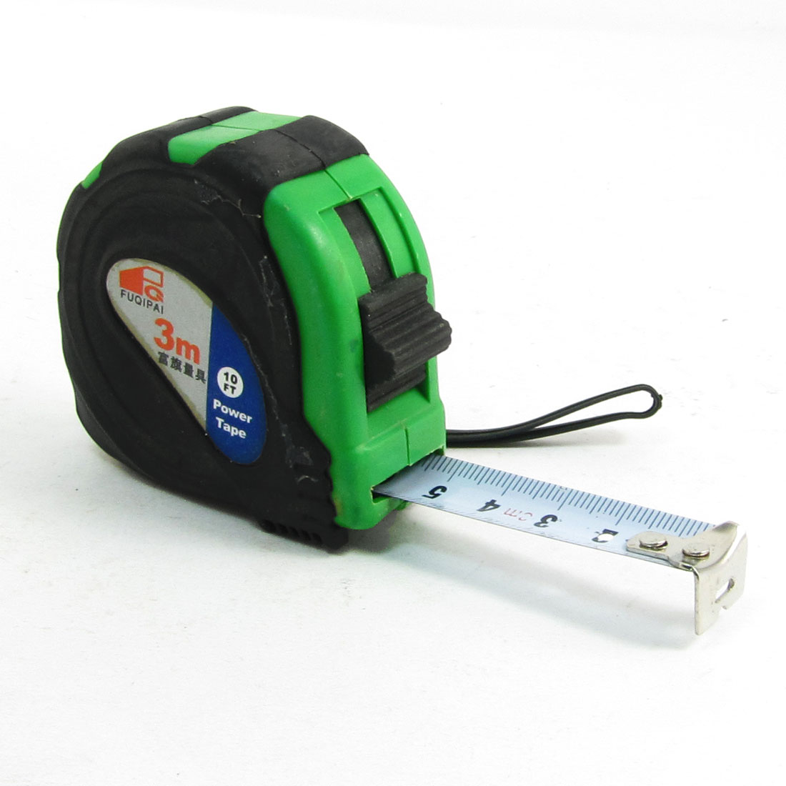 Green Black Case Retractable Steel Measuring Band Tape 3 Meter Length