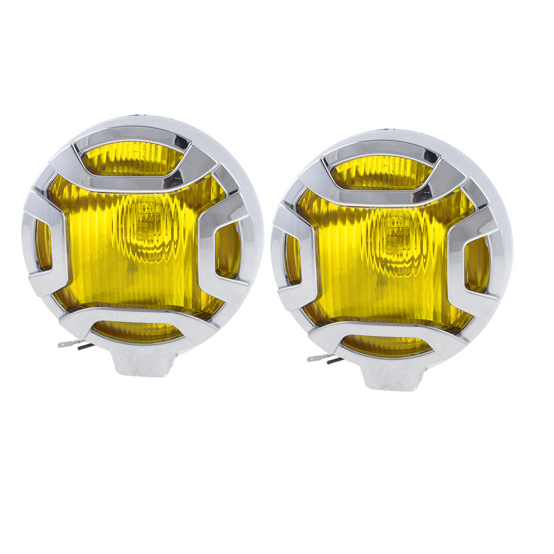 DC 12V 55W Round Yellow Lens H3 Yellow Lighting Auto Car Fog Light 2 Pcs