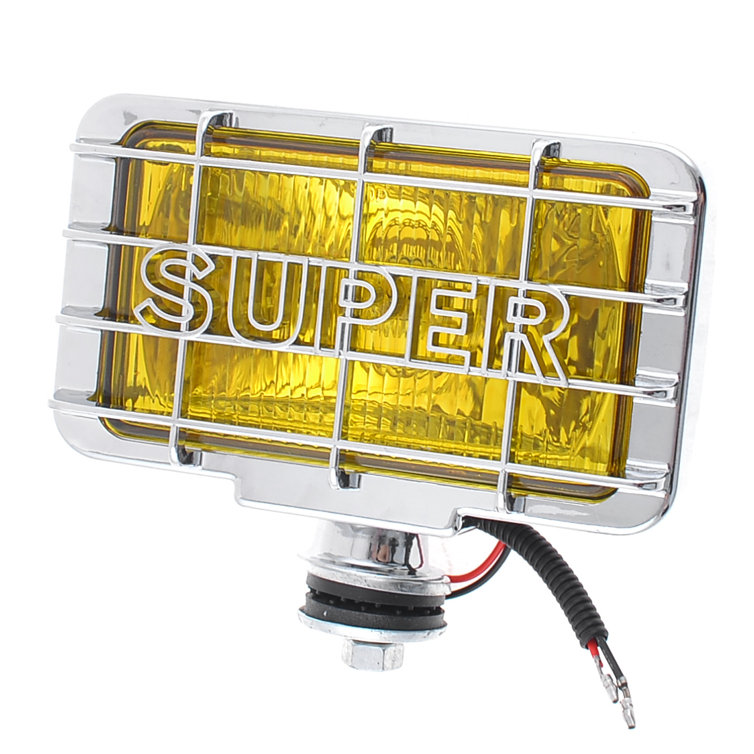 DC 12V 55W Yellow Lens Rectangle H3 Yellow Light Auto Car Fog Lamp