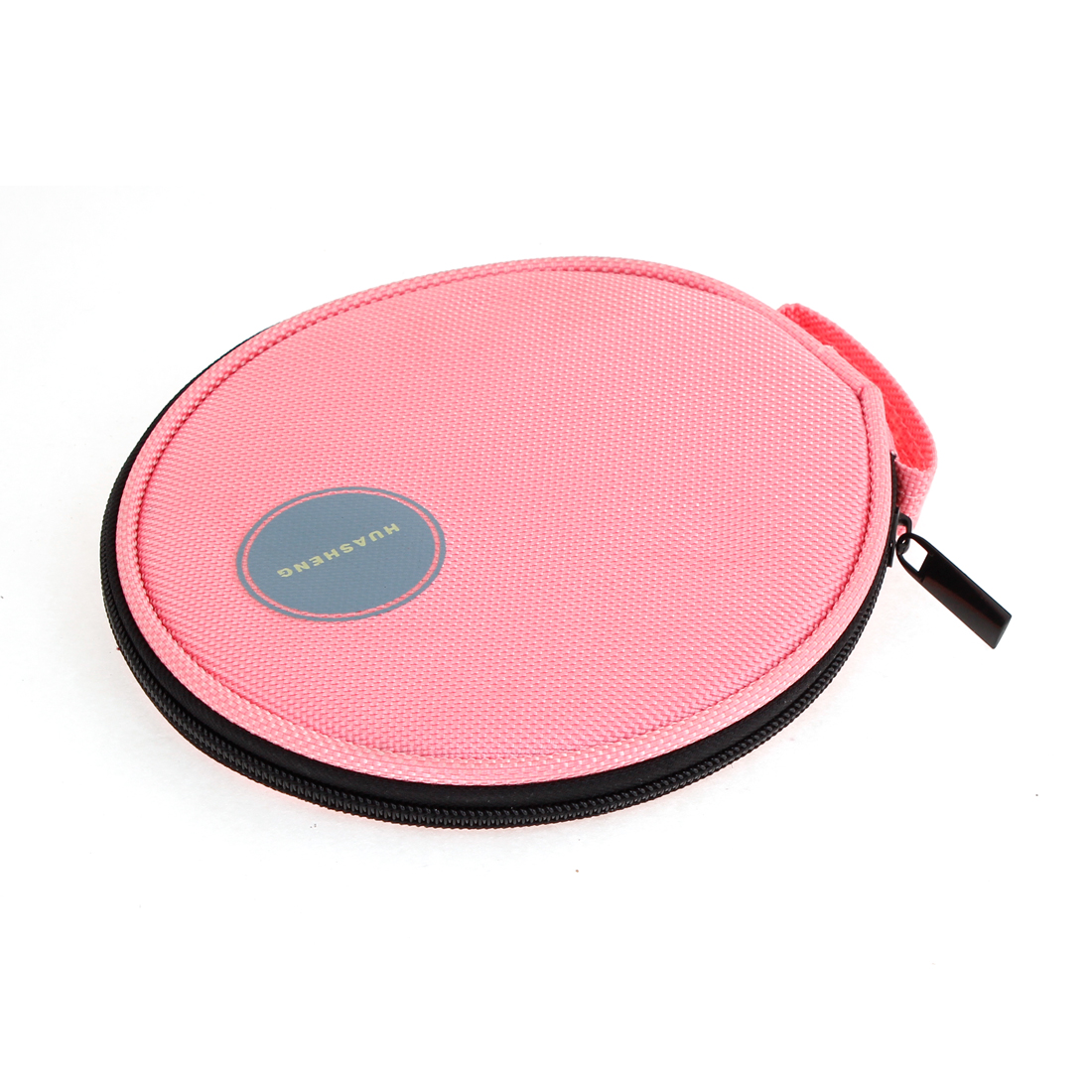 General Zipper Closure Pink Oxford Fabric Shell 20 Capacity DVD CD Holder Bag
