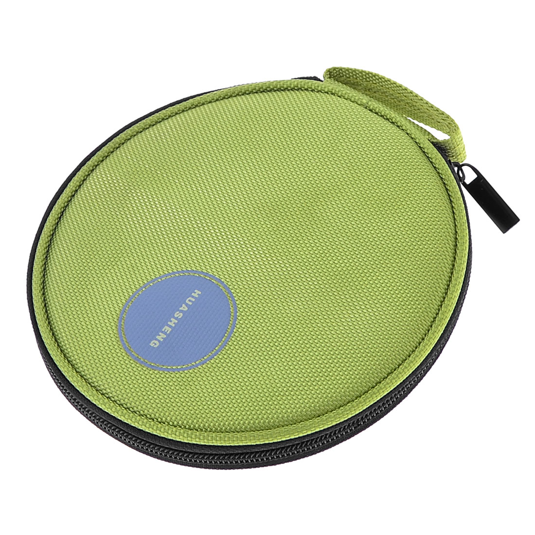 Zipper Closure Oxford Fabric VCD DVD CD Discs Storage Holder Wallet Bag Green