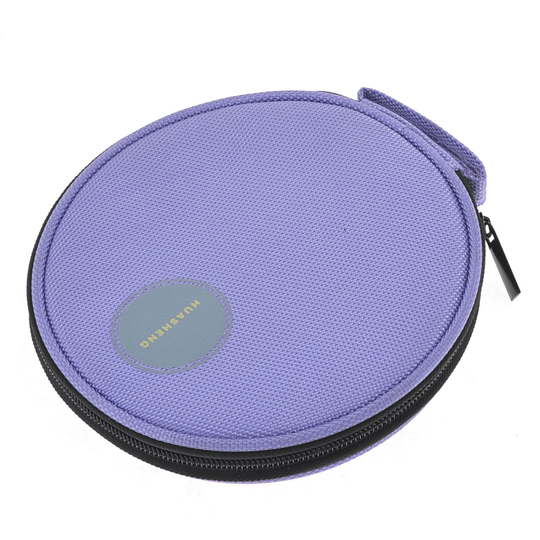 Car Purple Oxford Fabric 20 Capacity CD VCD DVD Disc Holder Wallet Storage Bag