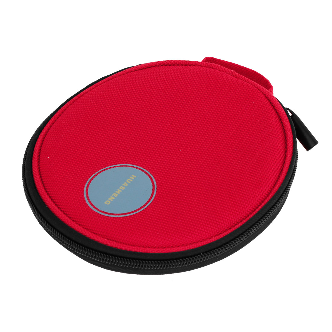 Red Round Oxford Fabric 20 Capacity CD DVD Holder Wallet Bag for Car