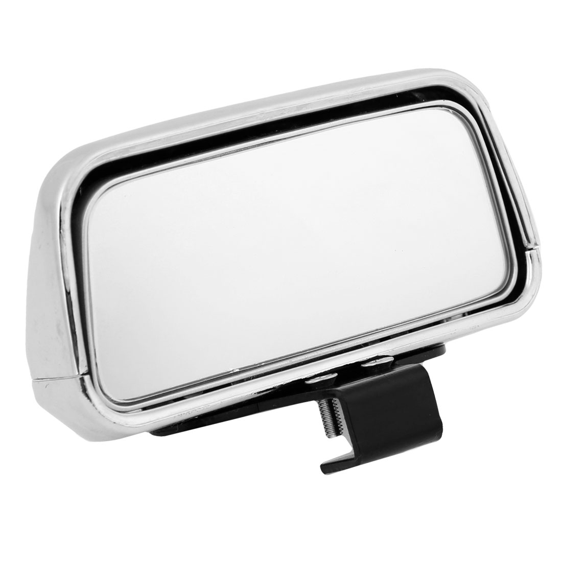 Silver Tone Car Wide Angle Convex Side Rear View Blind Spot Auxiliary Mirror