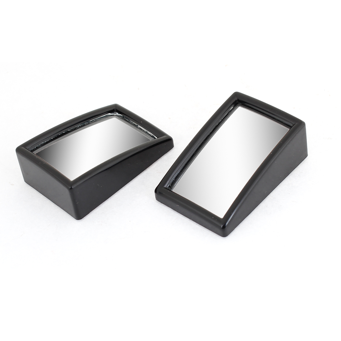Pair 56 x 37mm Car Safety Stick On Rear View Blind Spot Mirror Black