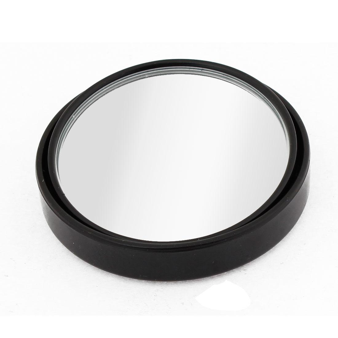 50mm Diameter Convex Rear View Blind Spot Mirror Black for Car Vehicle