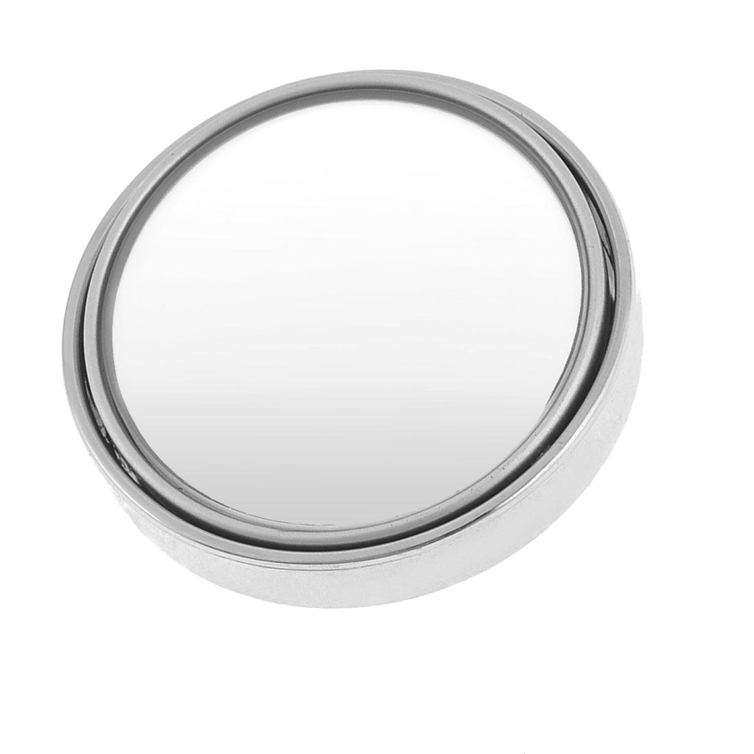 "Universal Car 2"" Dia Round Wide Angle Convex Blind Spot Mirror Silver Tone"