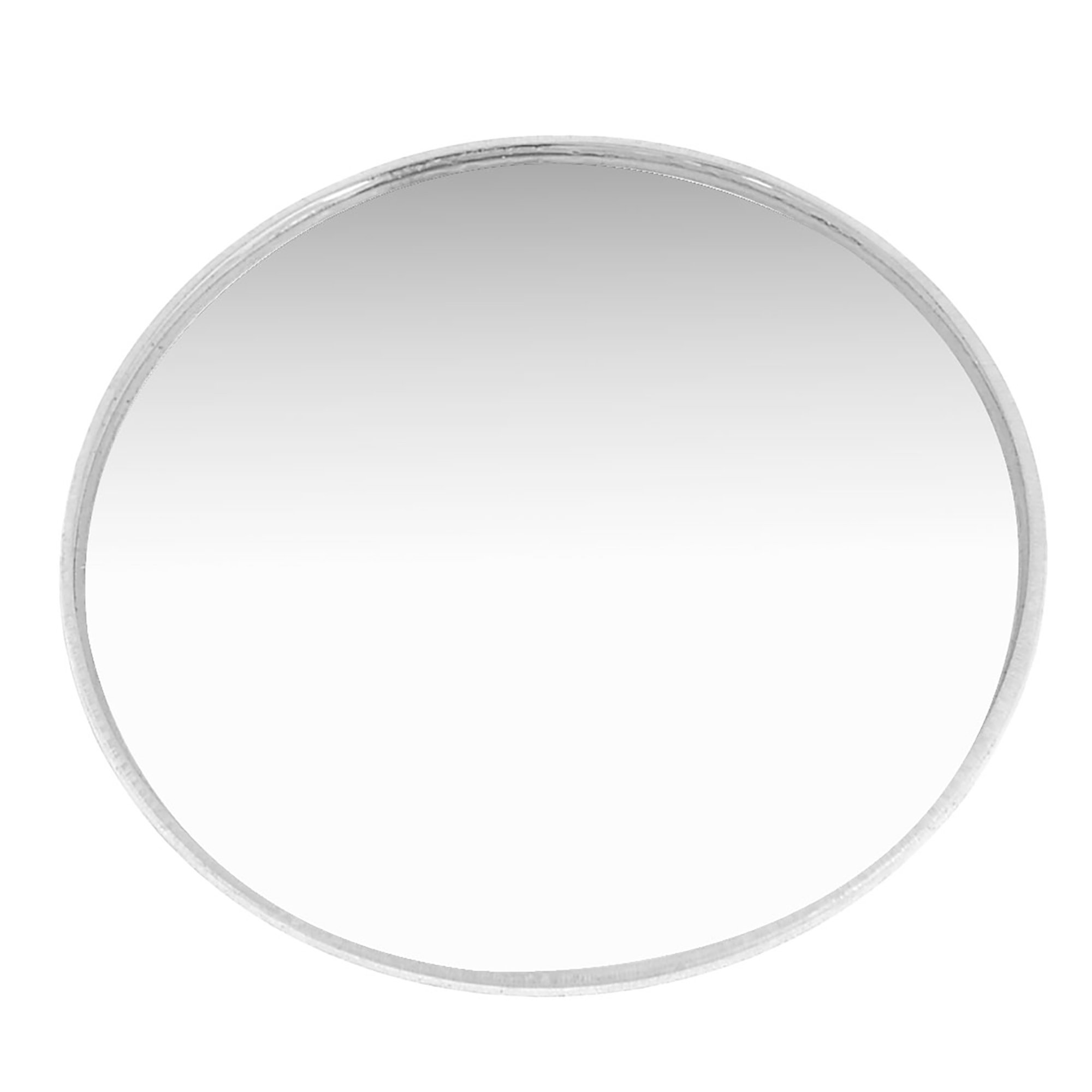 Silver Tone 75mm Round Adhesive Rear View Blind Spot Mirror for Automobile Car