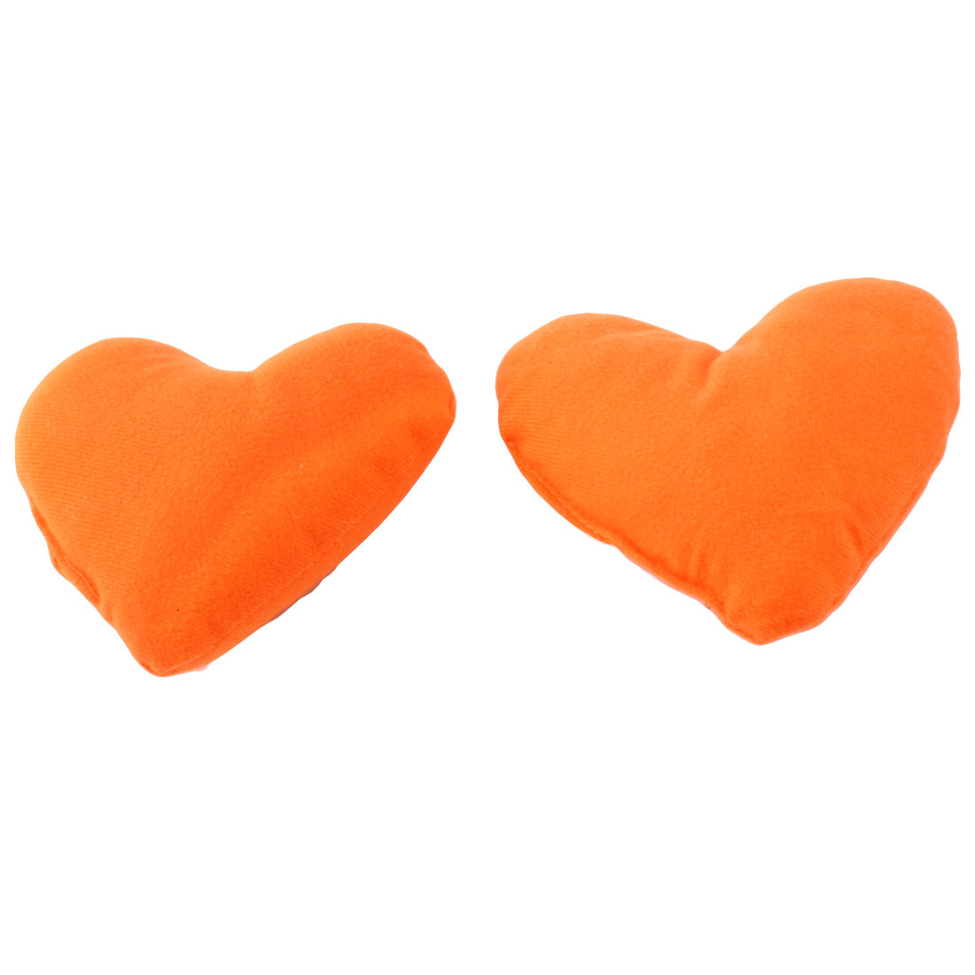 Doggie Puppy Heart Shaped Cute Neck Pet Pillow Headrest Pad Toy Orange 2 Pcs