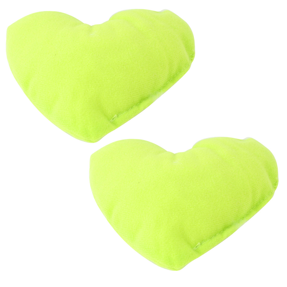 2pcs Green Fleece Heart Design Neck Pillow Cushion Pad for Doggy Pet Cat Yorkie