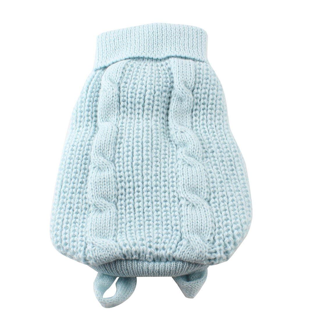 Light Blue Turtleneck Knitting Pet Dog Doggie Cat Clothing Sweater Coat XXS