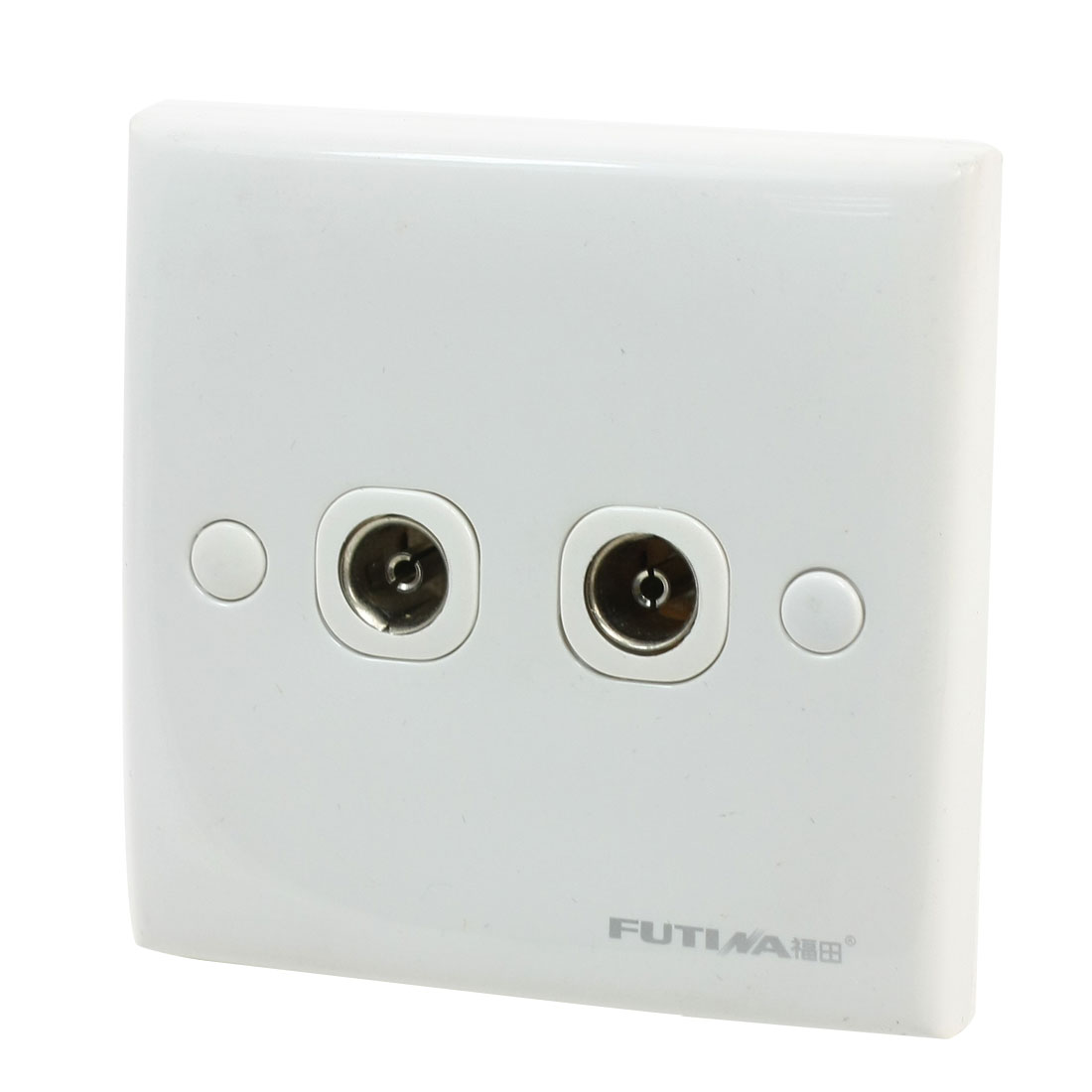Bedroom PAL TV Television Aerial Socket Dual Outlet Wall Plate Panel