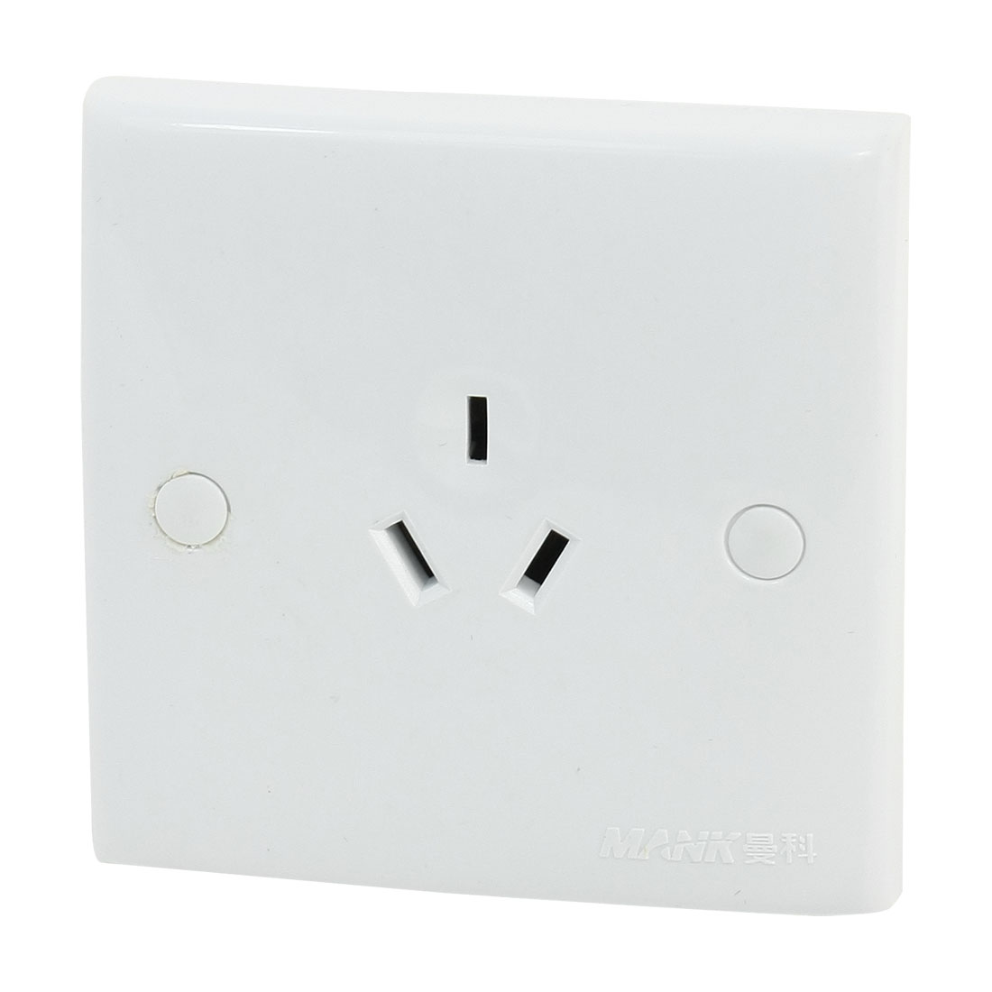 Spare Parts AC 250V 10A 3P AU Plug Outlet Socket Square Wall Plate
