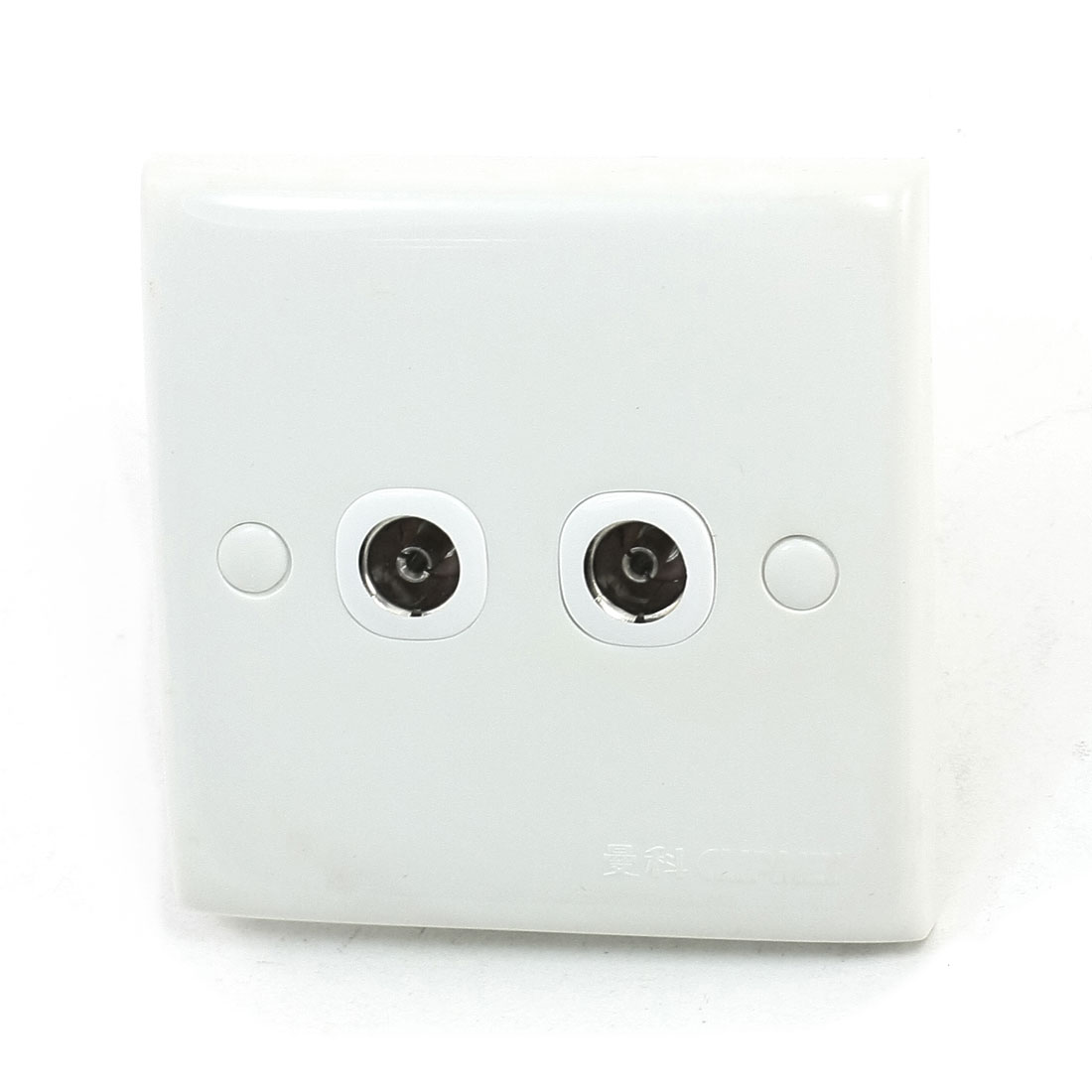 Bedroom PAL Female Jack TV Aerial Antenna 2 Outlet Socket Wall Plate