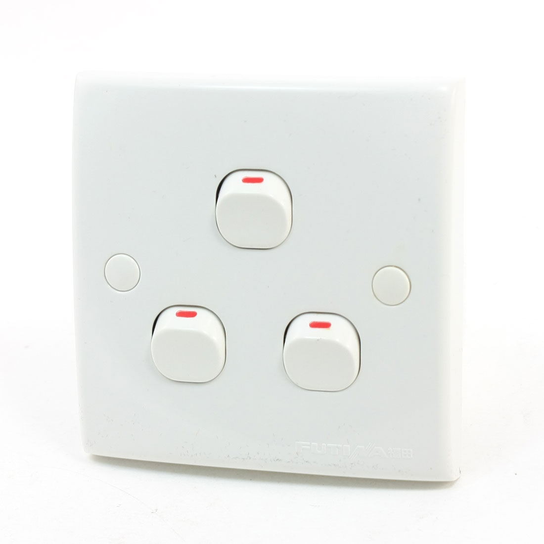 AC 250V 10A 3 Gang SPST Light Bulb On/Off Control Switch Wall Plate Panel