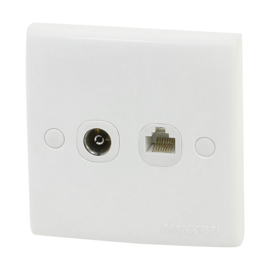 RJ11 6P4C TV Television Socket Double Outlet Wall Mount Plate Panel