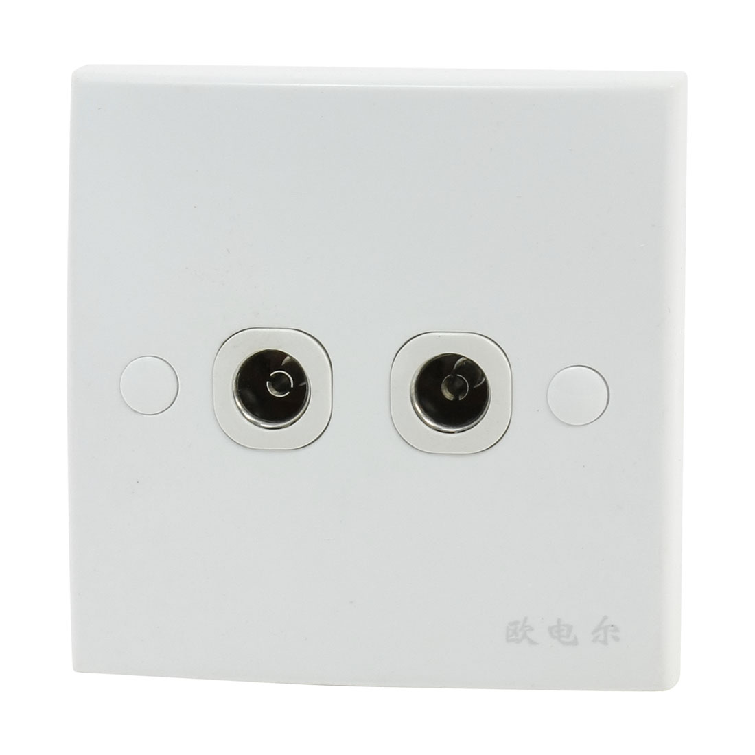 Home Plastic Shell PAL TV Antenna Double Port Socket Wallplate Panel