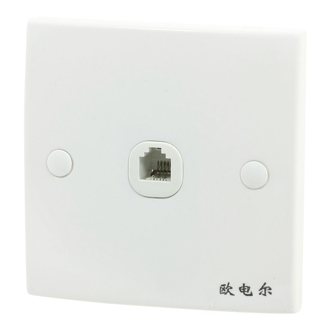 Bank Office Phone Telephone Single Socket Wall Panel for 4 Pin RJ11