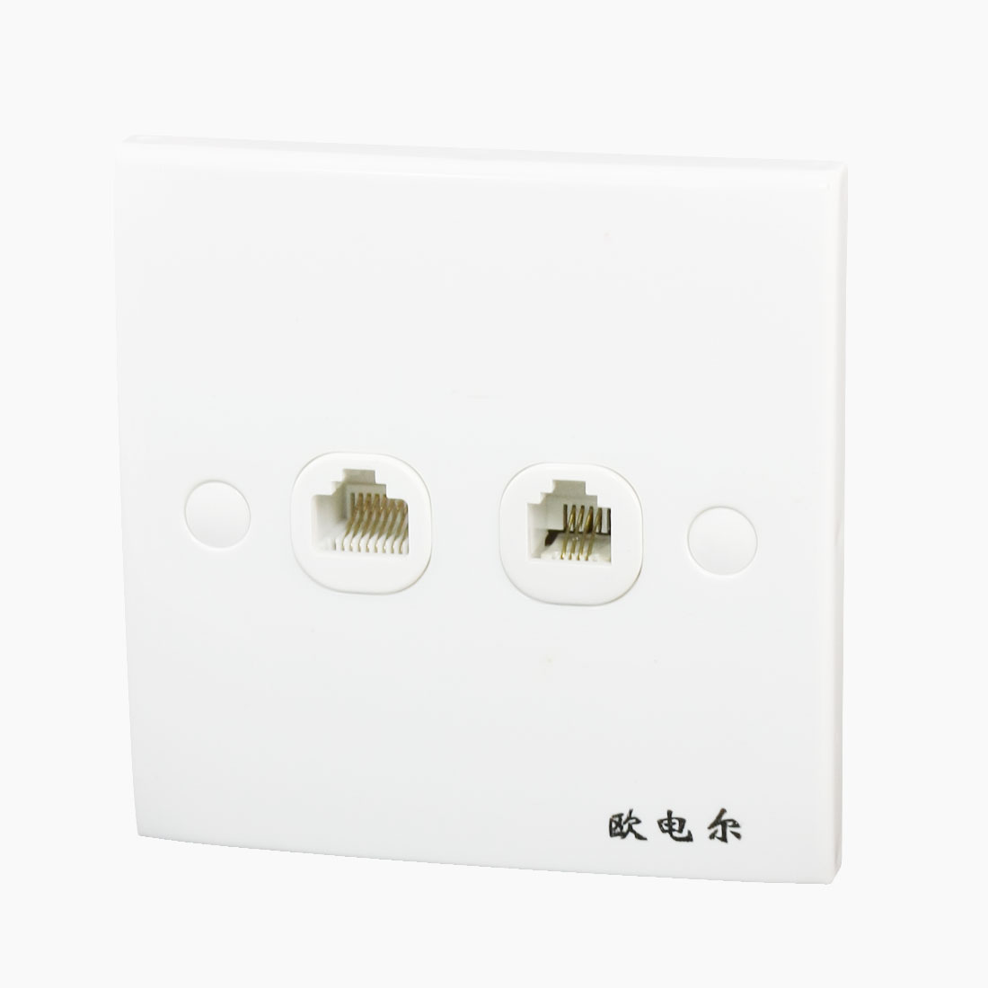RJ11 Telephone RJ45 Computer Dual Gauge Socket Wall Mount Plate Panel