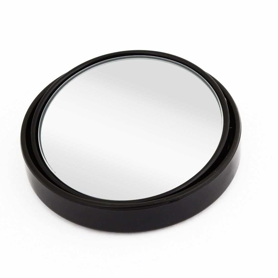 """2.2"""" Black 360 Degree Adjustable Convex Rear View Blind Spot Mirror for Vehicle"""