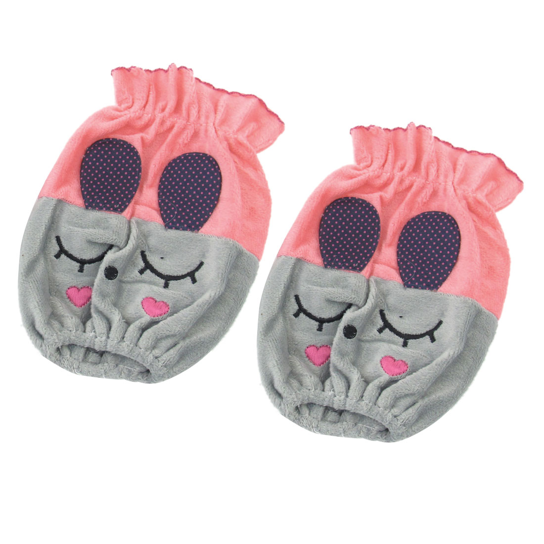 2pcs Child Watermelon Red Gray Rabbit Style Elastic Cuff Arm Sleeve Oversleeve