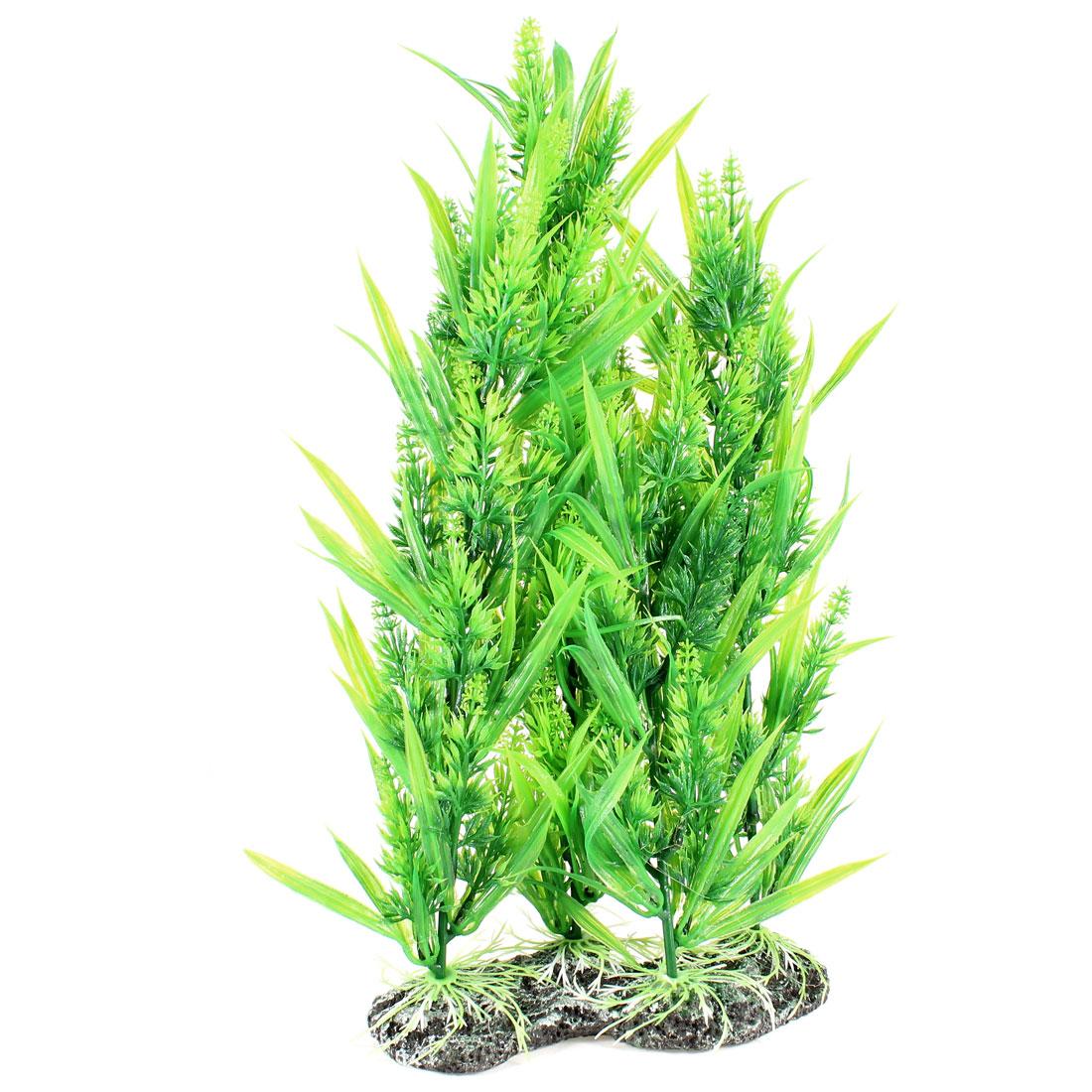 """13.7"""" High Aquarium Tank Plastic Green Simulation Aquatic Plant Ornament"""