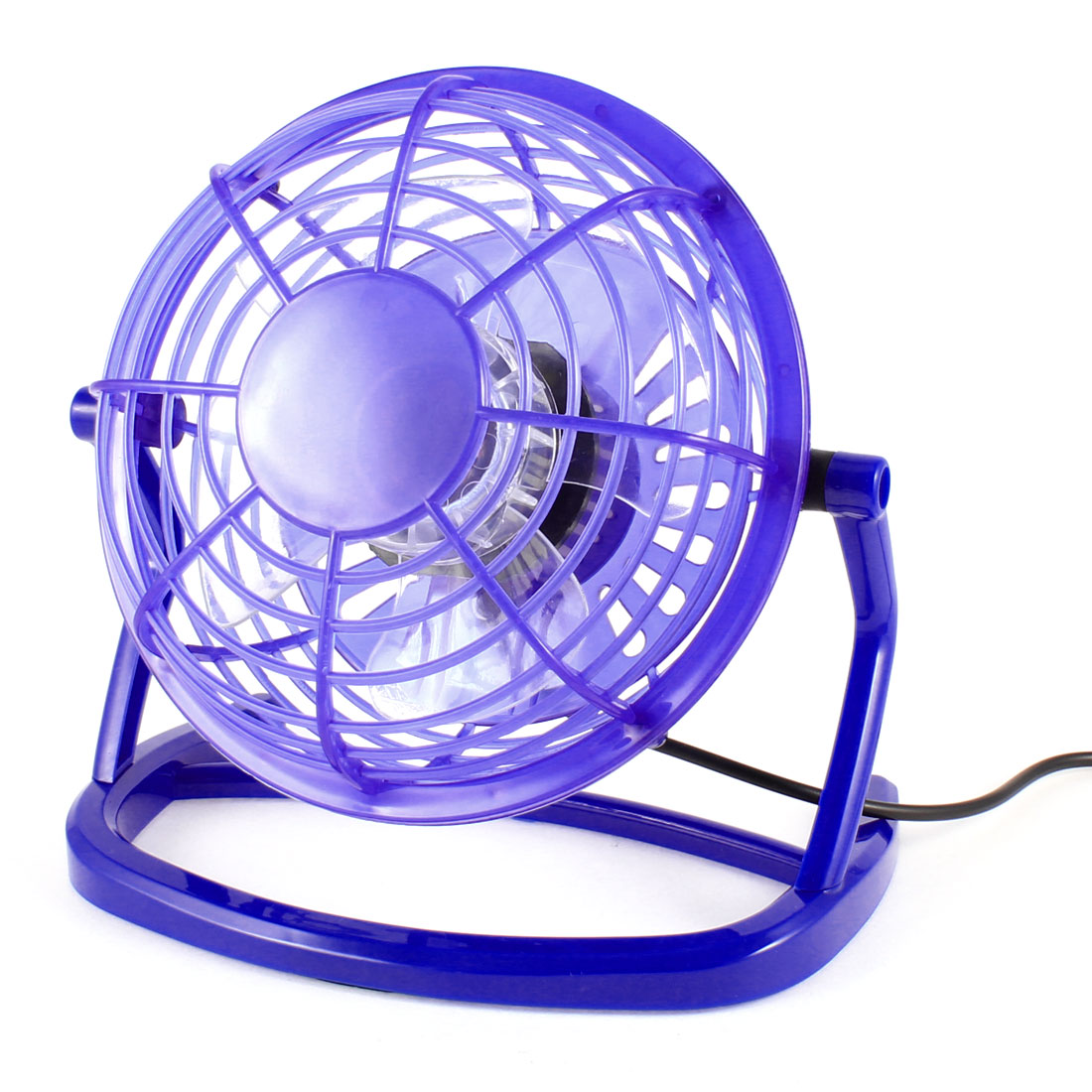 Adjustable Angle Tabletop Blue Retro USB Cooling Mini Fan