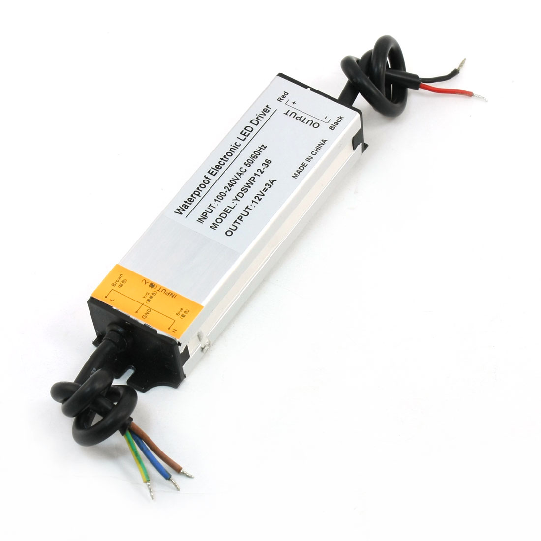 DC 12V 3A Waterproof LED Driver Power Supply Adapter Transformer