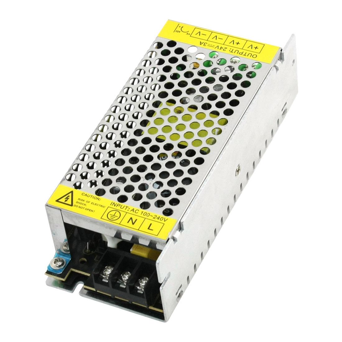 DC 24V 3A Switch Power Supply Converter for LED Illuminated AC 100-240V